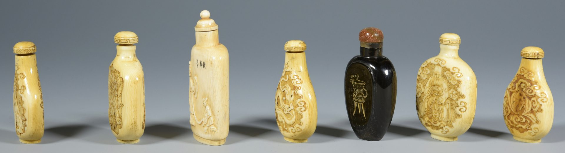 Lot 317: 7 Asian Snuff Bottles