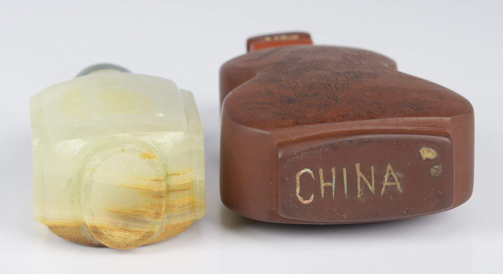 Lot 318: Chinese Jade & Snuff Bottles & 1 other