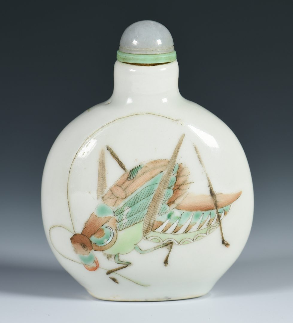 Lot 319: Chinese Famille Rose Porcelain Snuff Bottle
