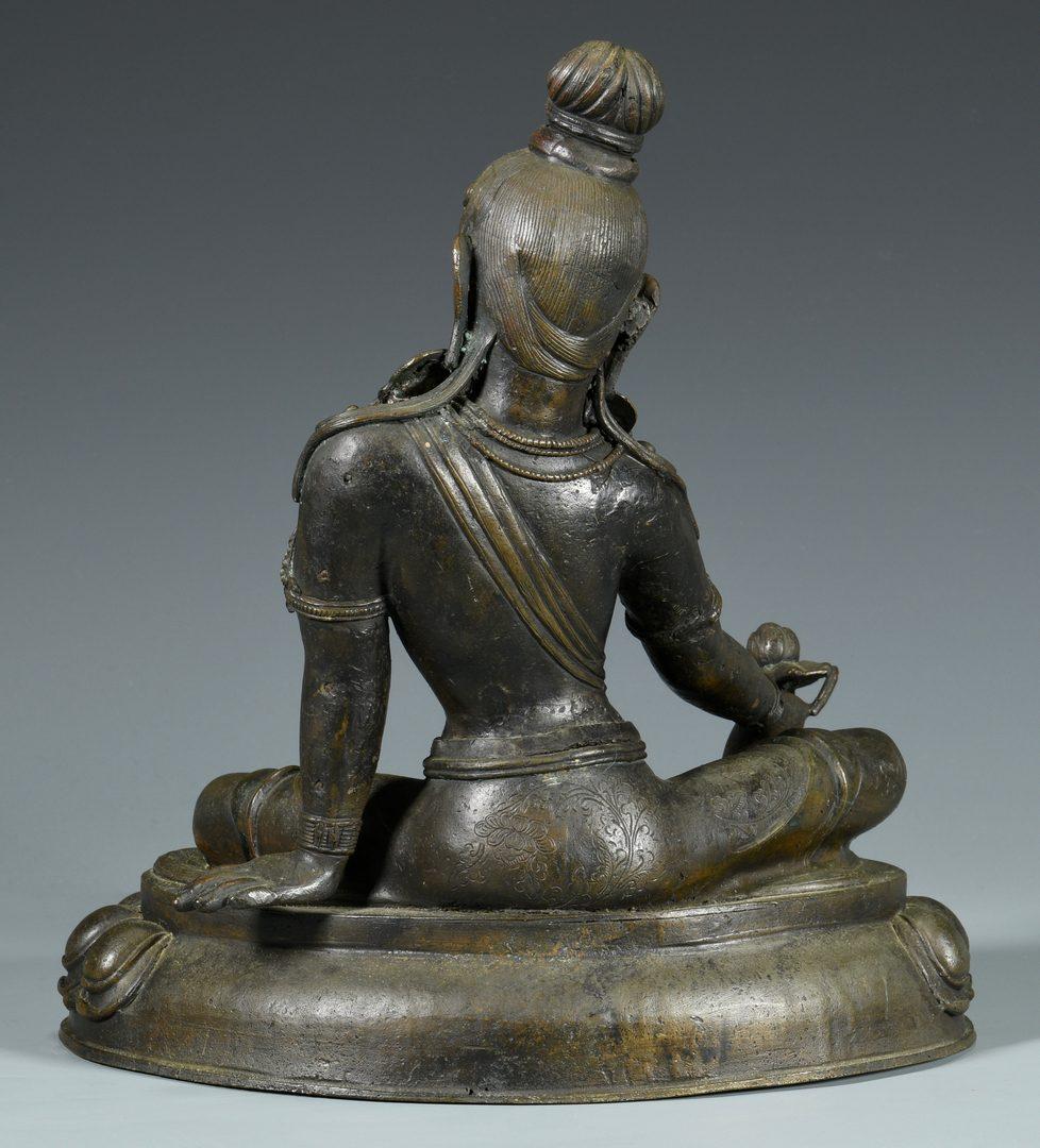 Lot 329: Sino-Tibetan Bronze Guanyin Sculpture