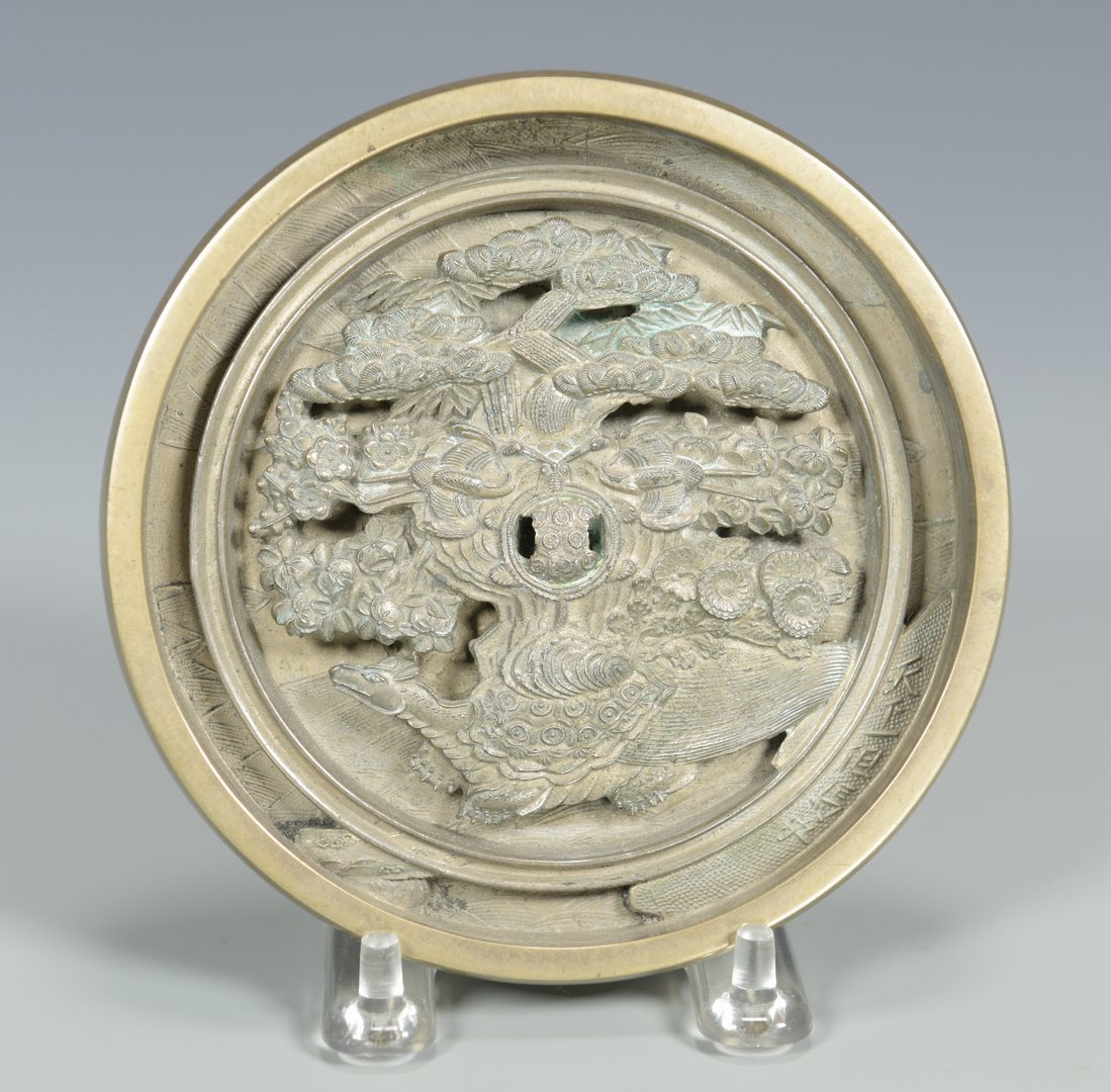 Lot 331: Japanese Bronze Hand Mirror