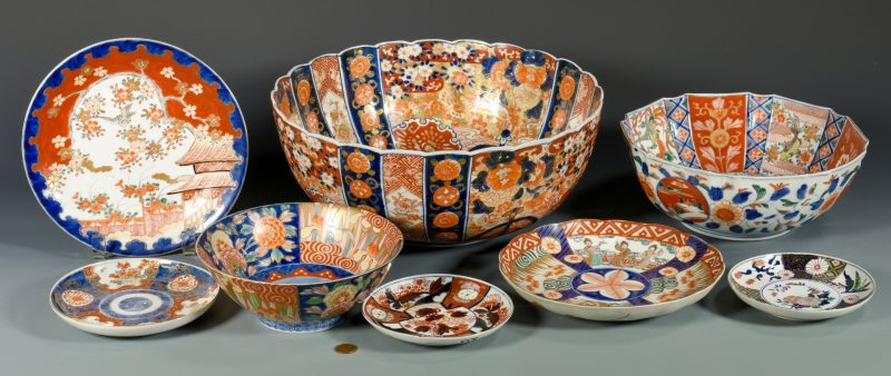 Lot 338: Group of Japanese Imari Porcelain, 8 items