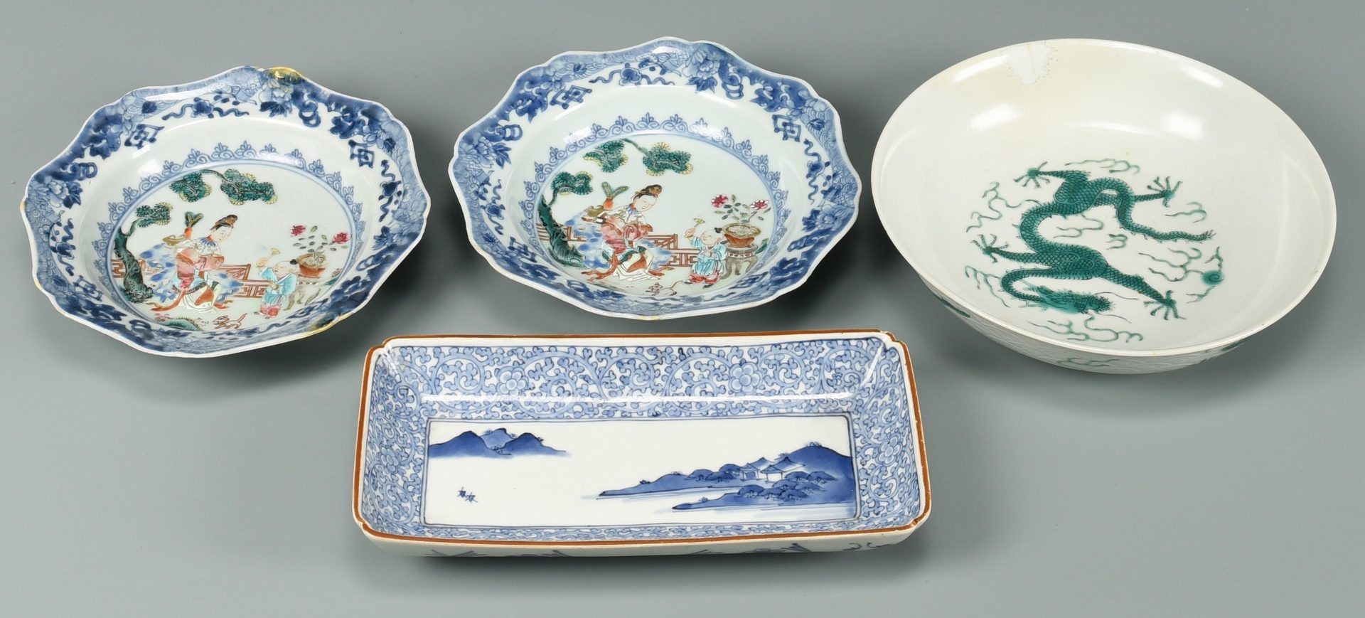 Lot 339: 11 Assorted Chinese Porcelain Items