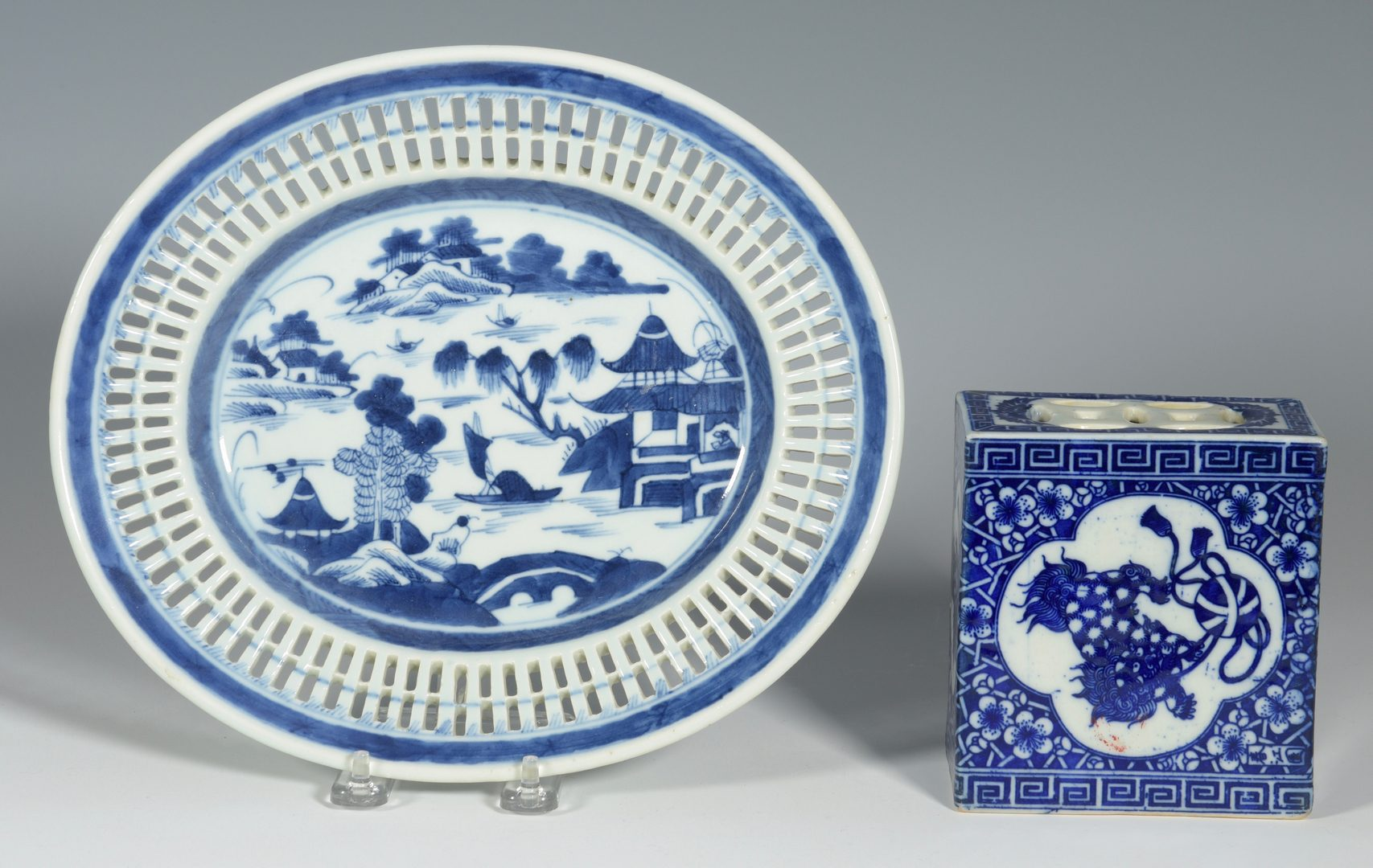 Lot 344: 3 Asian Porcelain Items inc. Charger