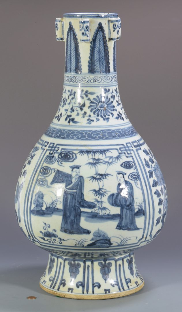 Lot 345: Chinese Blue & White Floor Vase