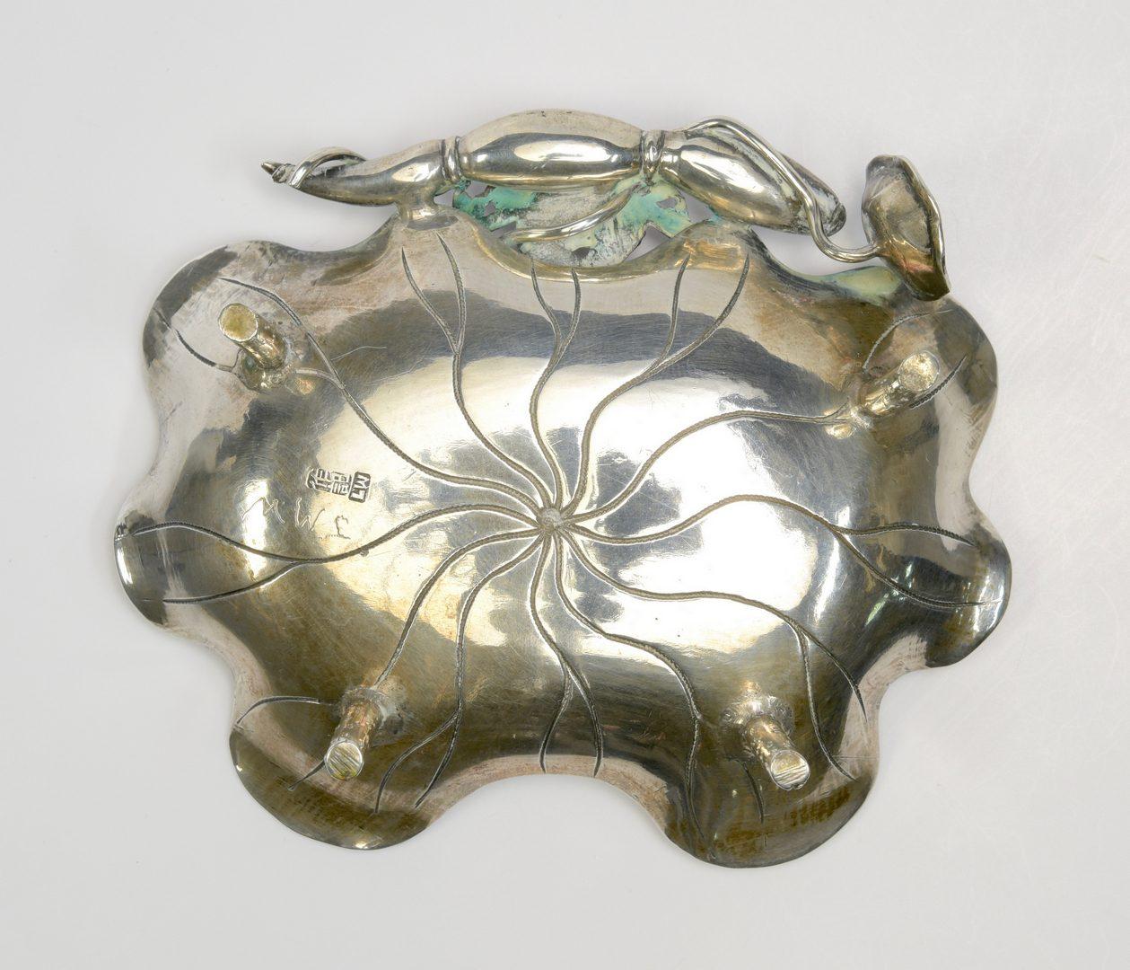 Lot 351: Chinese silver crab dish
