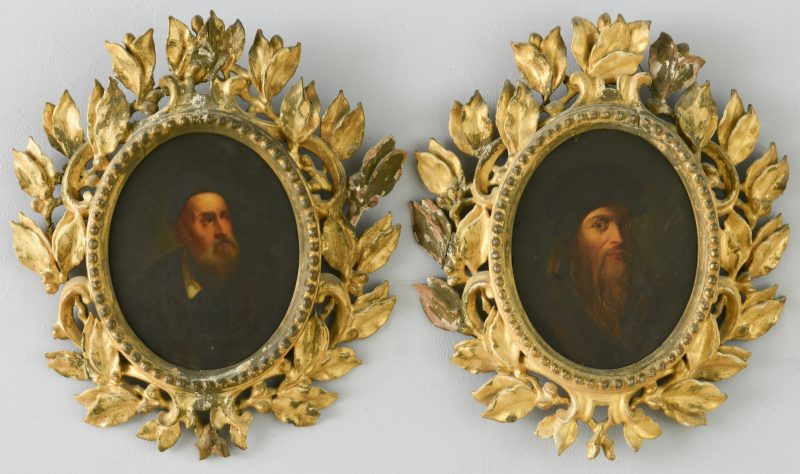 Lot 353: Two Grand Tour Old Master Artist Portraits