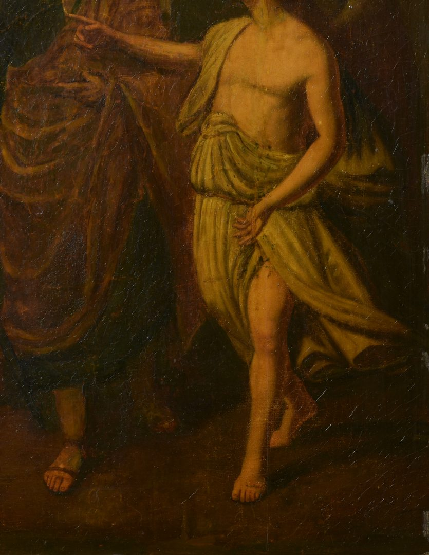 Lot 354: 18th c. oil, manner of Giovanni Barbieri