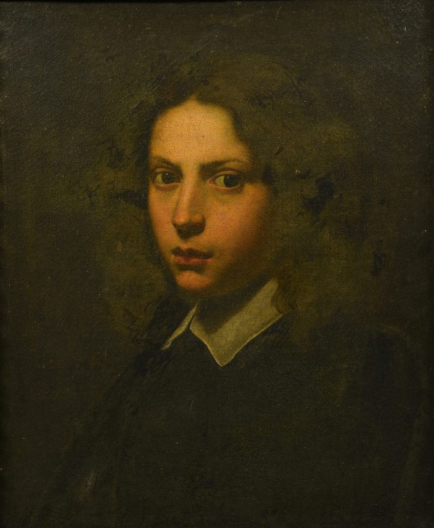 Lot 355: Continental School Portrait of Young Man, 17th/18th C.