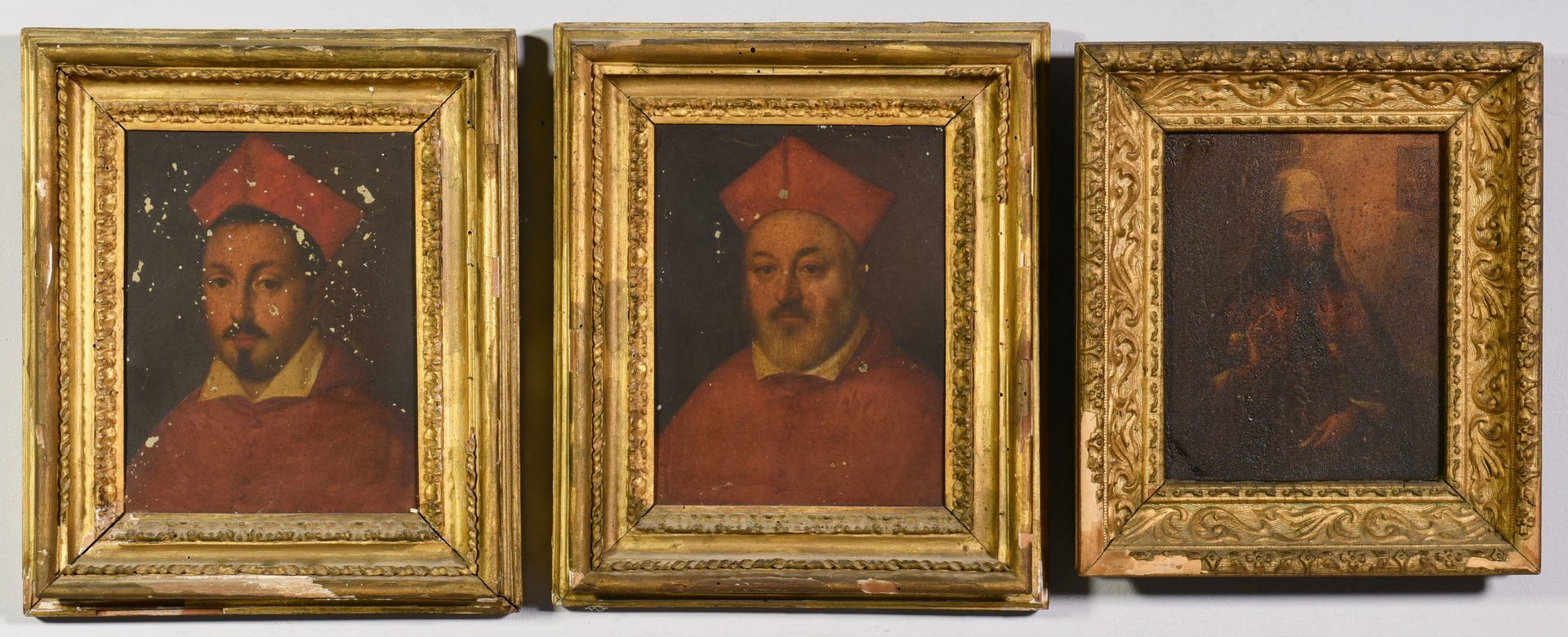 Lot 356: Group 3 Religious Oils, Popes and Saint