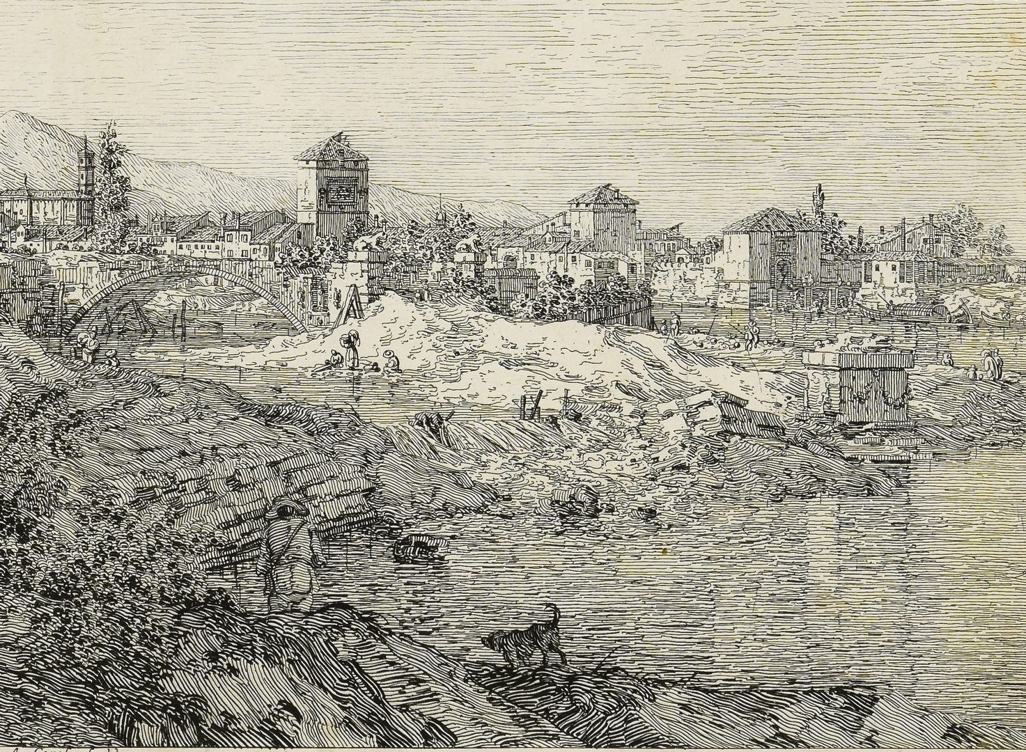 Lot 359: Giovanni Antonio Canaletto drypoint etching