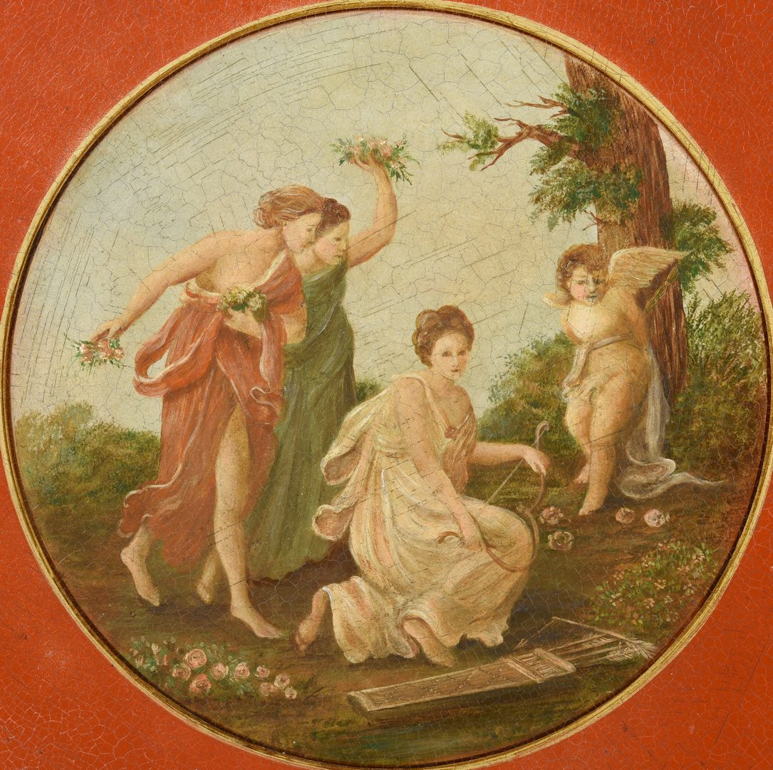 Lot 363: 2 Tole Trays with Classical Scenes