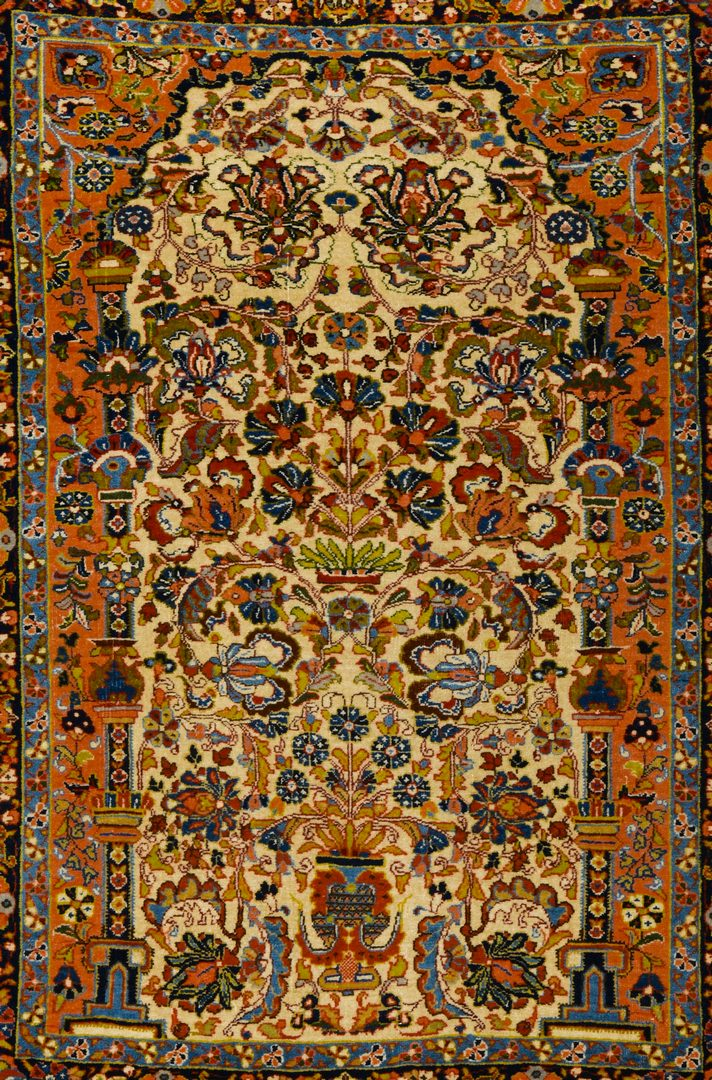 """Lot 366: Antique Persian Sarouk Rug, 3'5"""" x 4'8"""""""