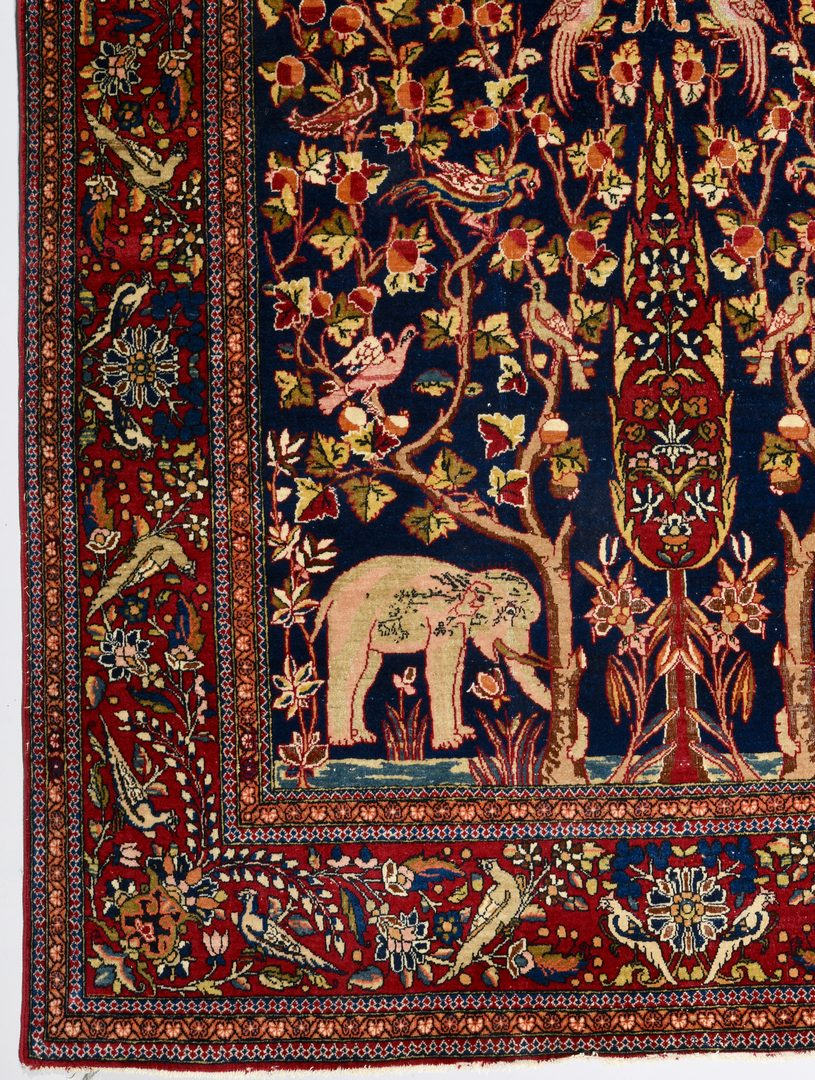 "Lot 368: Vintage Persian Kashan Meditation Rug, 4'6"" x 7'1"""