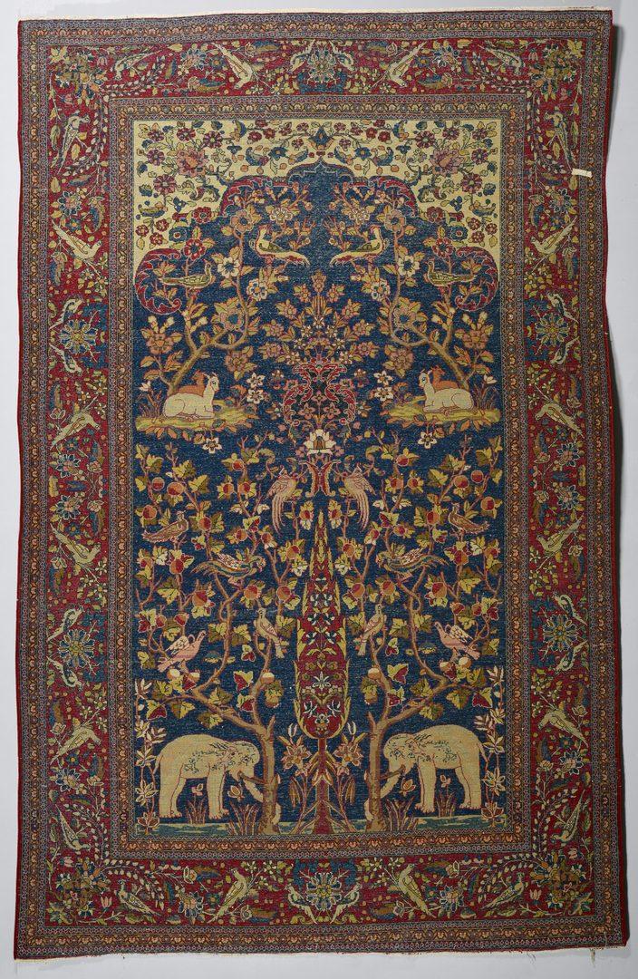 Lot 368 Vintage Persian Kashan Meditation Rug 4 6 Quot X 7 1 Quot