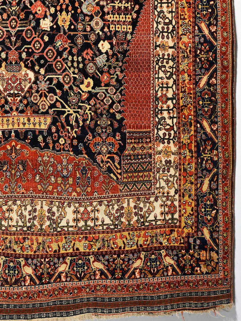 """Lot 369: Vintage Persian Qashqai rug, 5'1"""" x 7'8"""""""