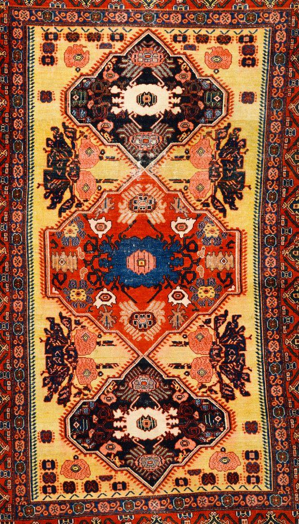 "Lot 371: Antique Persian Senneh area rug, 4'6"" x 6'9"""