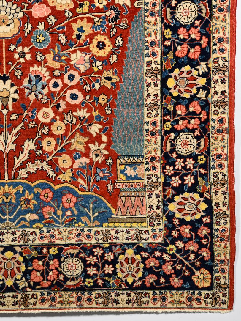 Lot 373 Antique Persian Isphahan Rug 4 6 Quot X 6 5 Quot