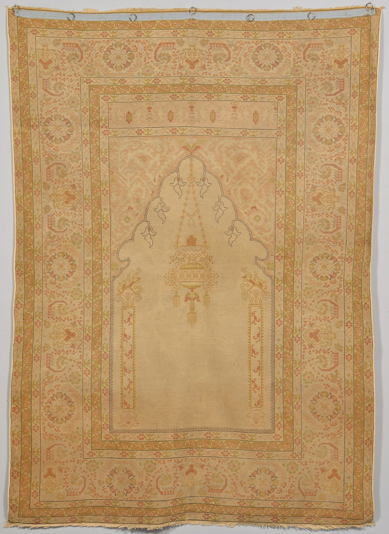 Lot 376 Antique Turkish Silk Prayer Rug C 1900