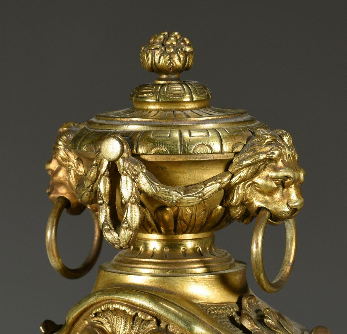 Lot 379: Louis XV Style Gilt Bronze Mantel Clock