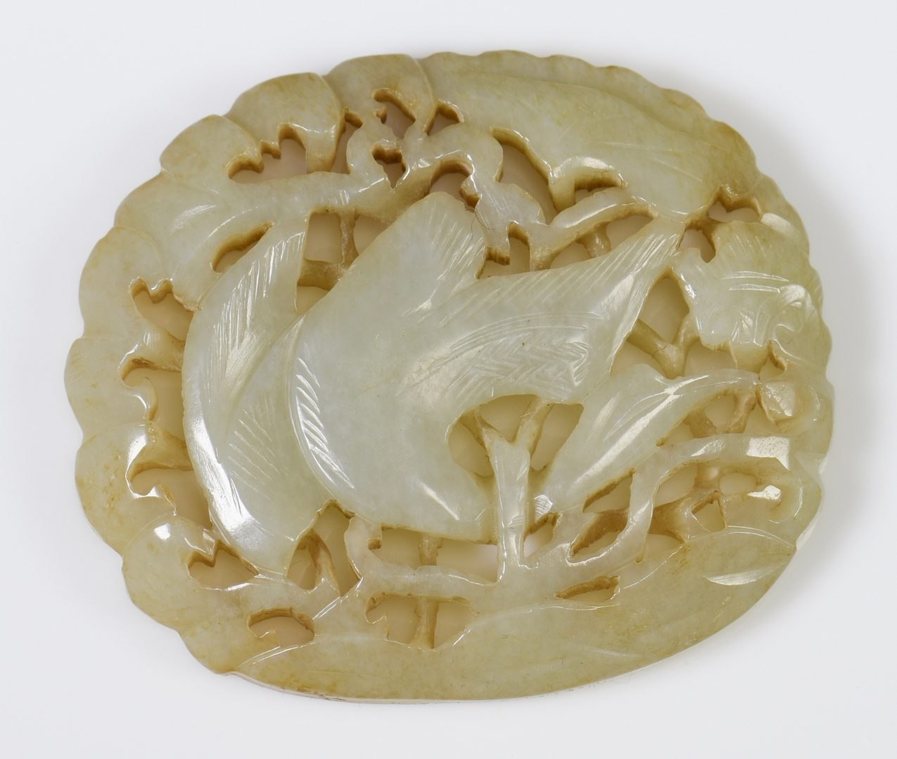 Lot 37: 3 Chinese Carved Jade Plaques