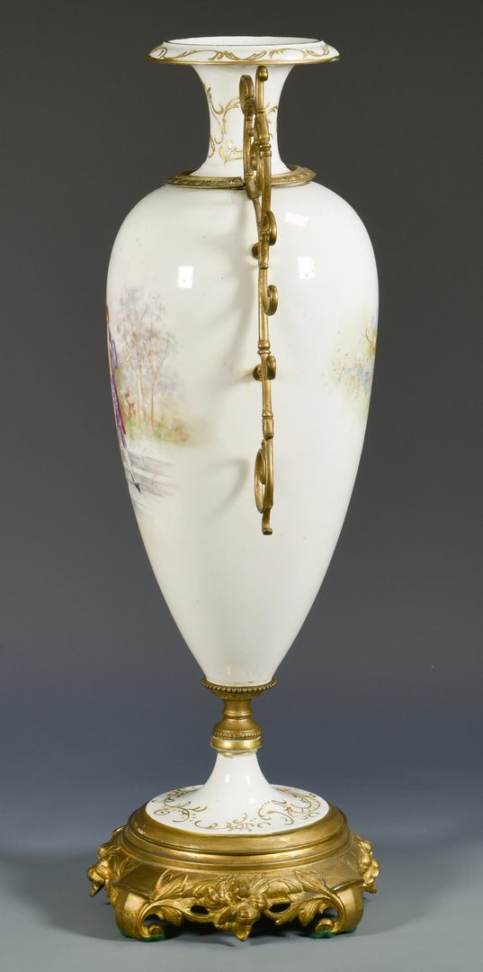 Lot 381: Large French Porcelain Urn w/Ormolu Mounts