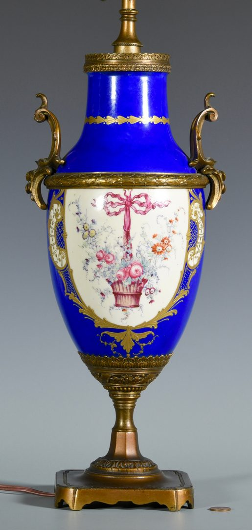 Lot 383: French Bronze Mounted Porcelain Lamp