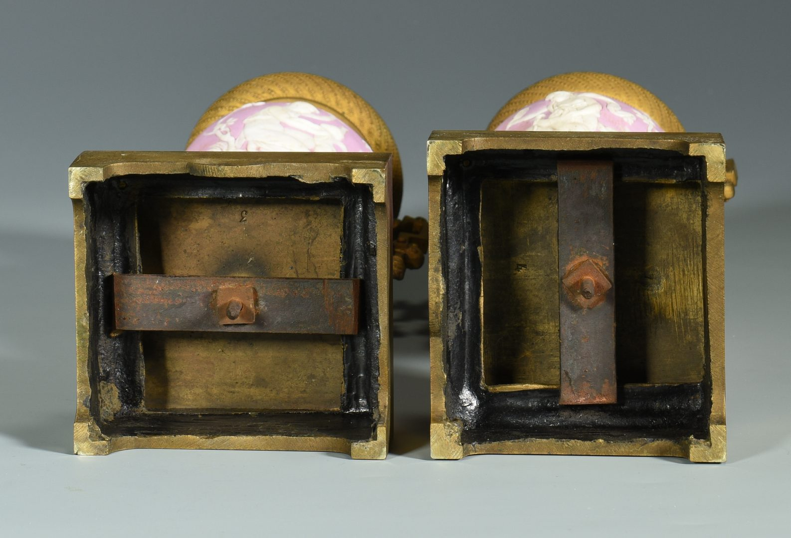 Lot 385: 3-Piece Gilt Bronze French Garniture Set