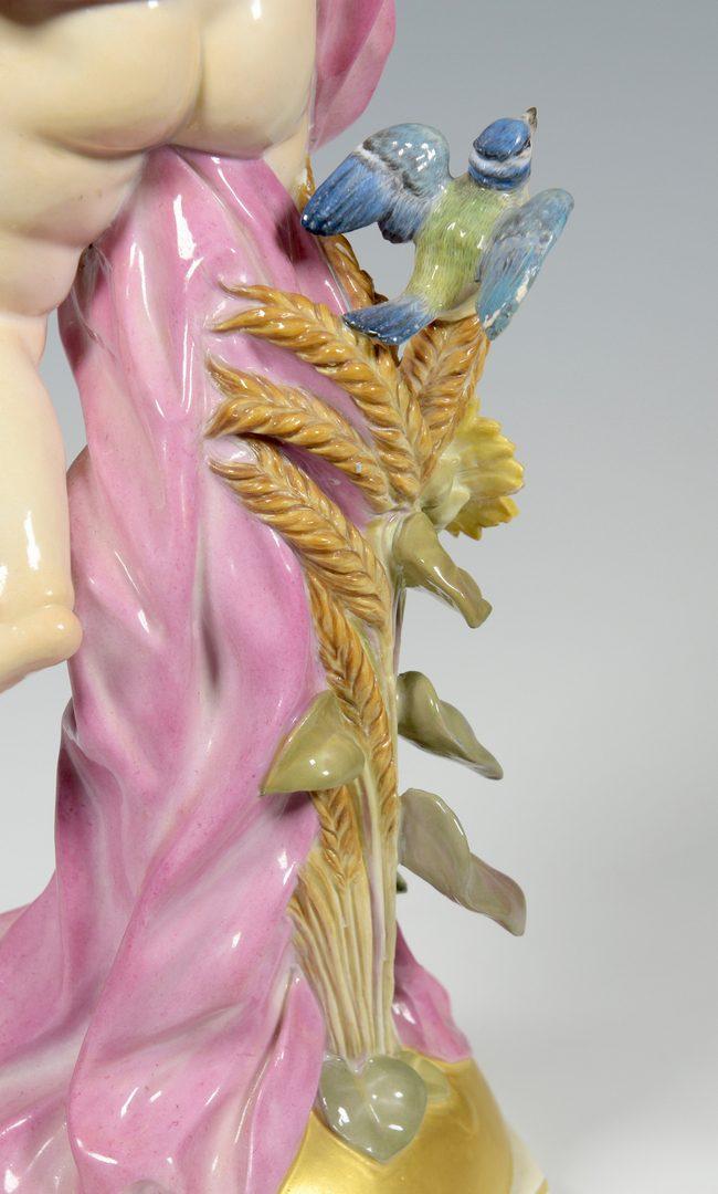 "Lot 387: Meissen ""Day"" Porcelain Figurine"