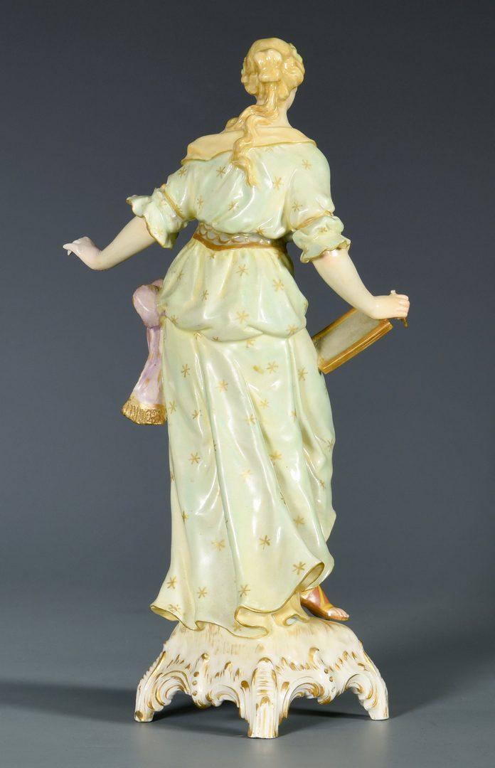 Lot 388: KPM Porcelain Figure of Grecian Female w/ Stand