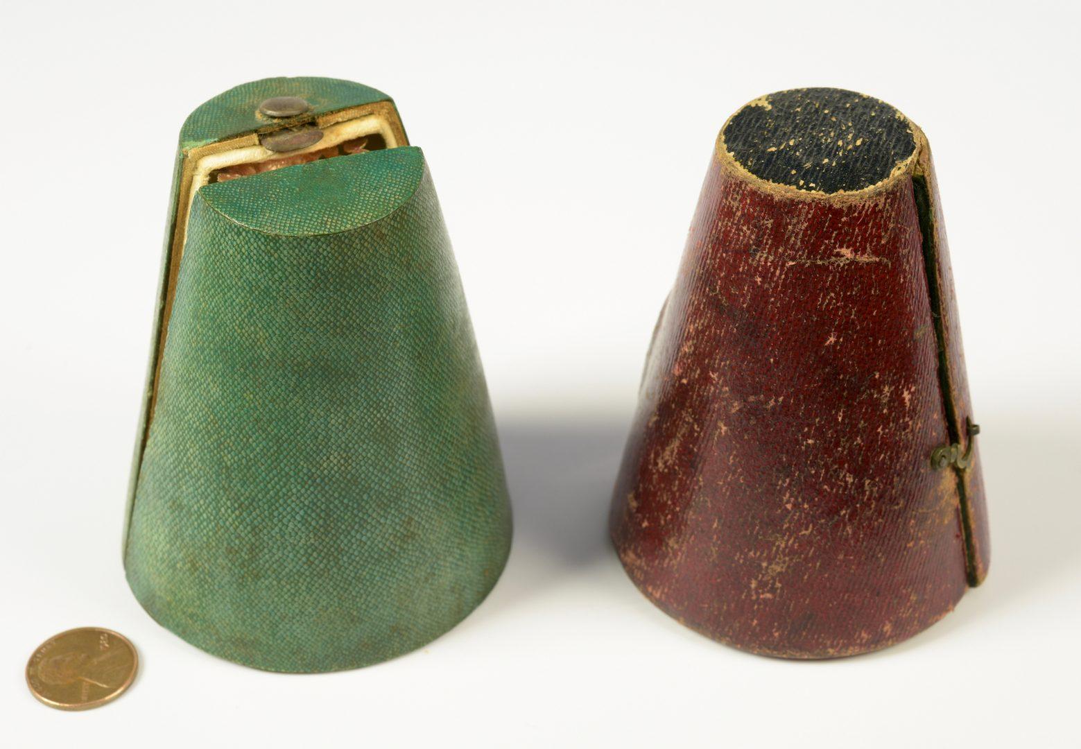 Lot 390: Pair Enameled Filigree Zarf Cups