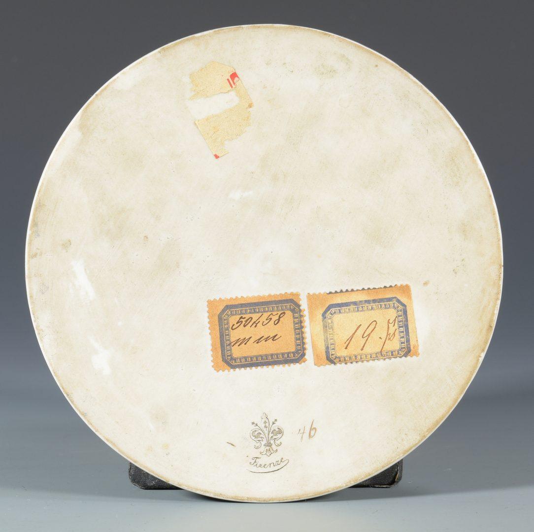 Lot 393: Firenze Porcelain Plaque of Madonna Della Sedia