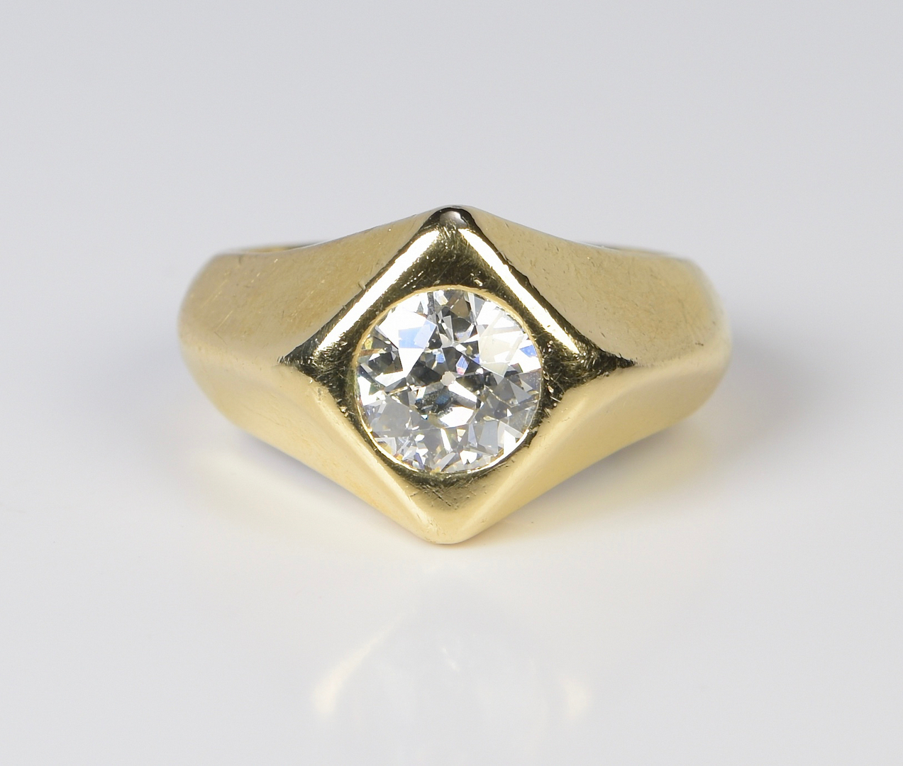 Lot 398 Gent S 14k 1 57 Ct Oec Diamond Ring
