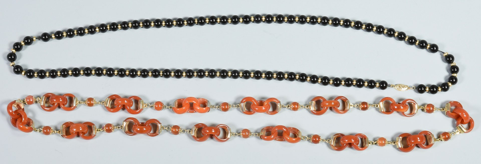 Lot 39: Chinese Carved and/or Beaded Necklaces