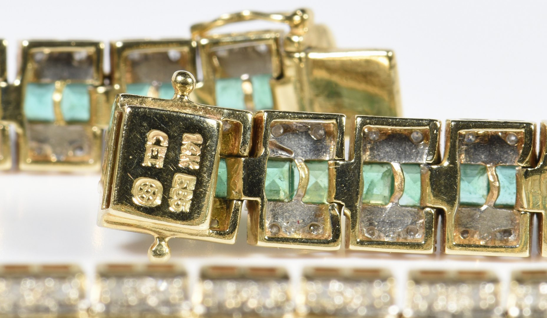 Lot 400: 3 Items, 14K Emerald and Diamond Jewelry