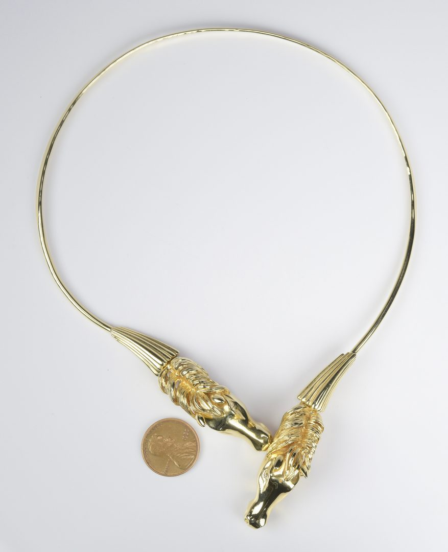 Lot 403: 14K Peter Lindeman Horse Necklace
