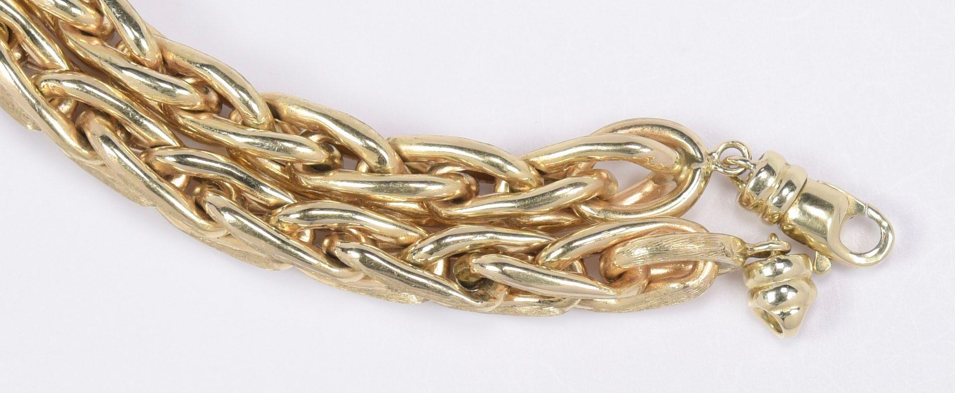 Lot 411: 14K Italian Wheat Necklace, 59 grams