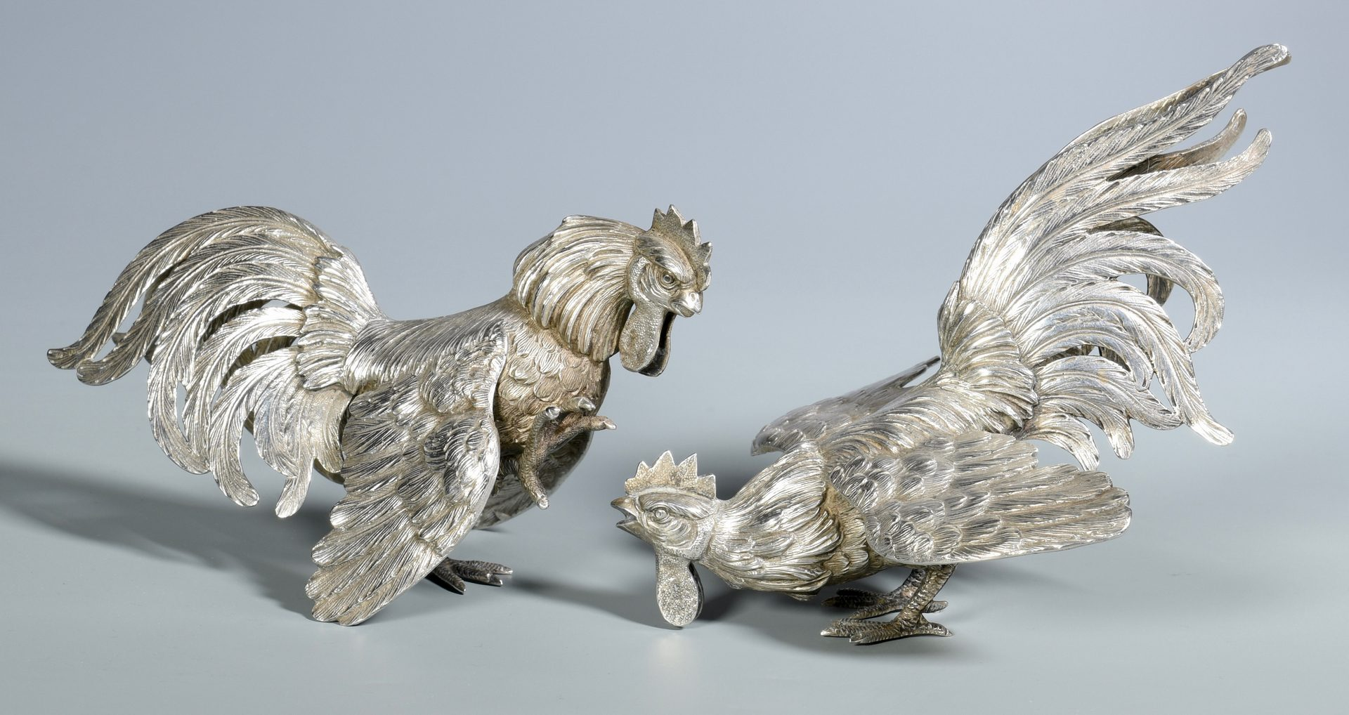 Lot 41: 2 Pairs Silver Animal Figures
