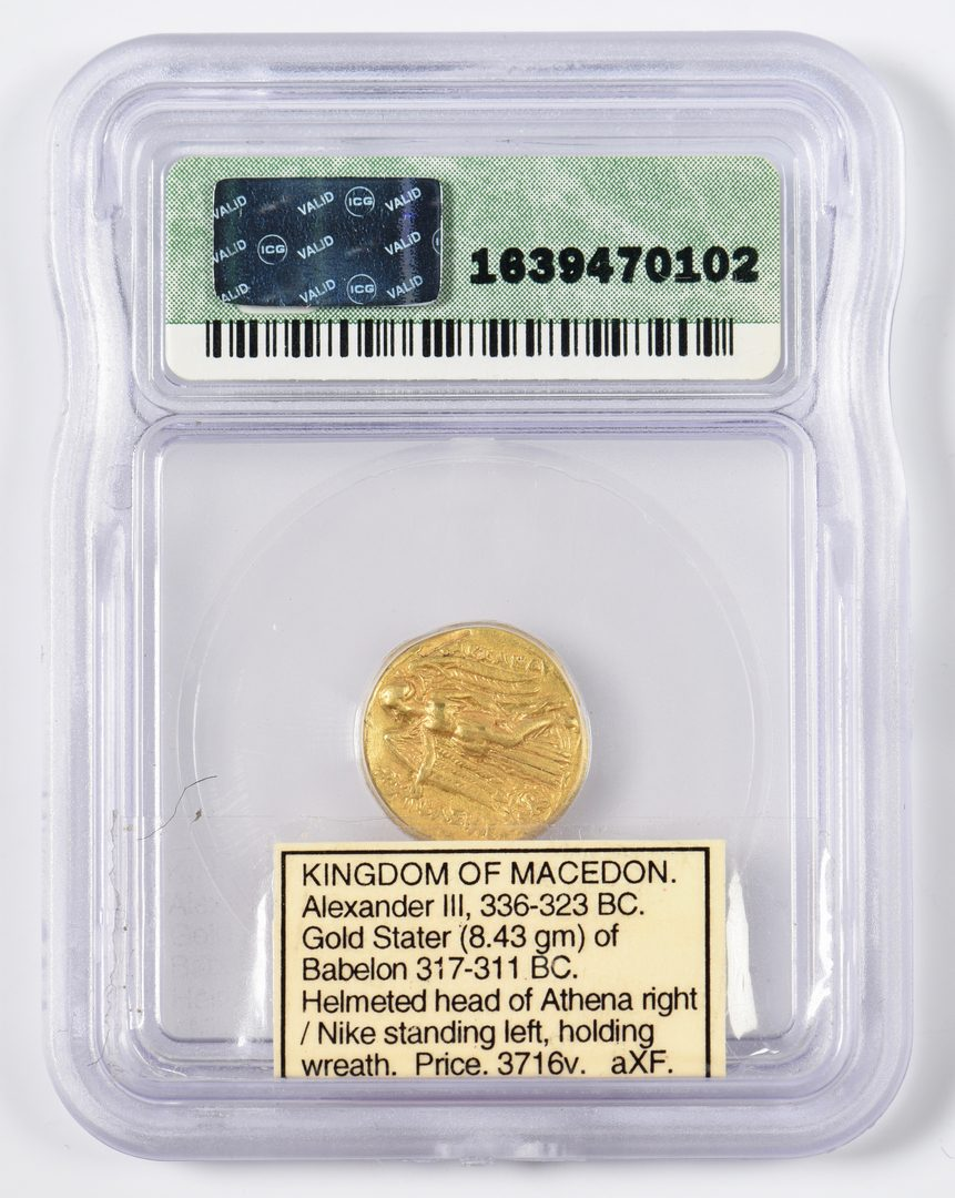 Lot 428: Alexander the Great AV Stater Coin, Babylon Mint
