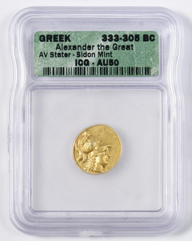 Lot 431: Alexander the Great AV Stater, Sidon Mint