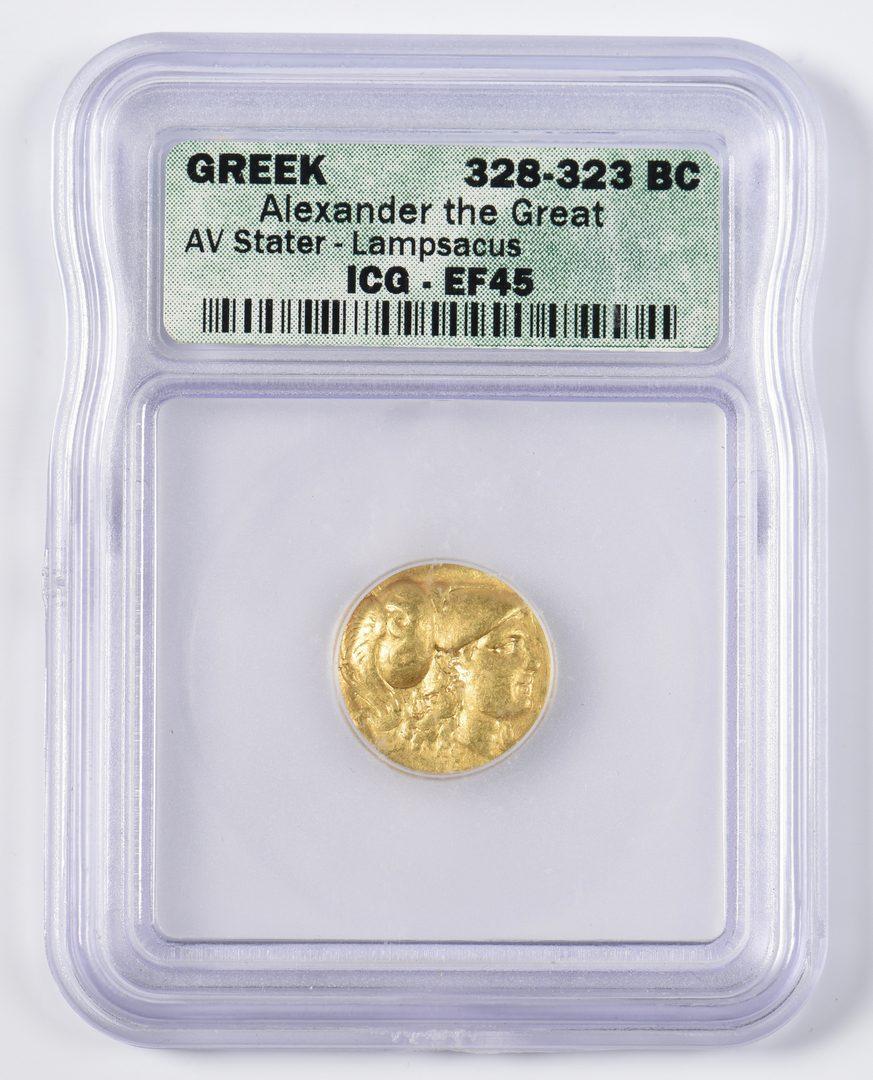 Lot 434: Alexander the Great AV Stater, Lampsacus Mint