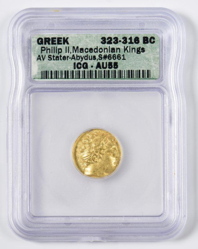 Lot 438: Philip II AV Stater, Abydus Mint