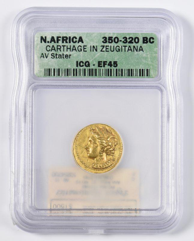 Lot 440: Carthage Gold AV Stater, Zeugitana, North Africa