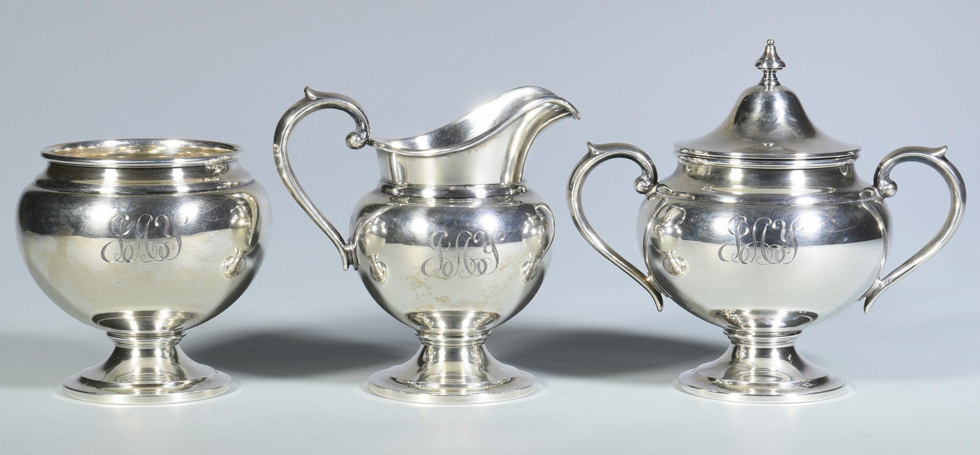 Lot 446: Gorham Sterling Silver Tea Service, 5 pcs