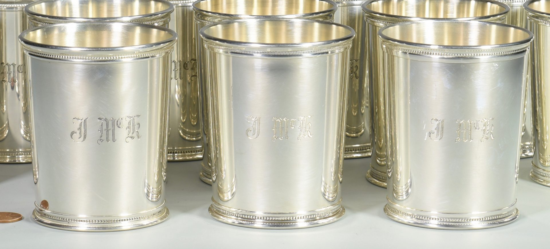 Lot 447: 14 Reed & Barton Sterling Julep Cups