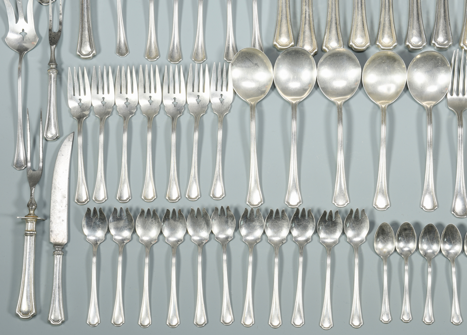 Lot 450 Reed And Barton Sterling Clovelly 94 Pcs
