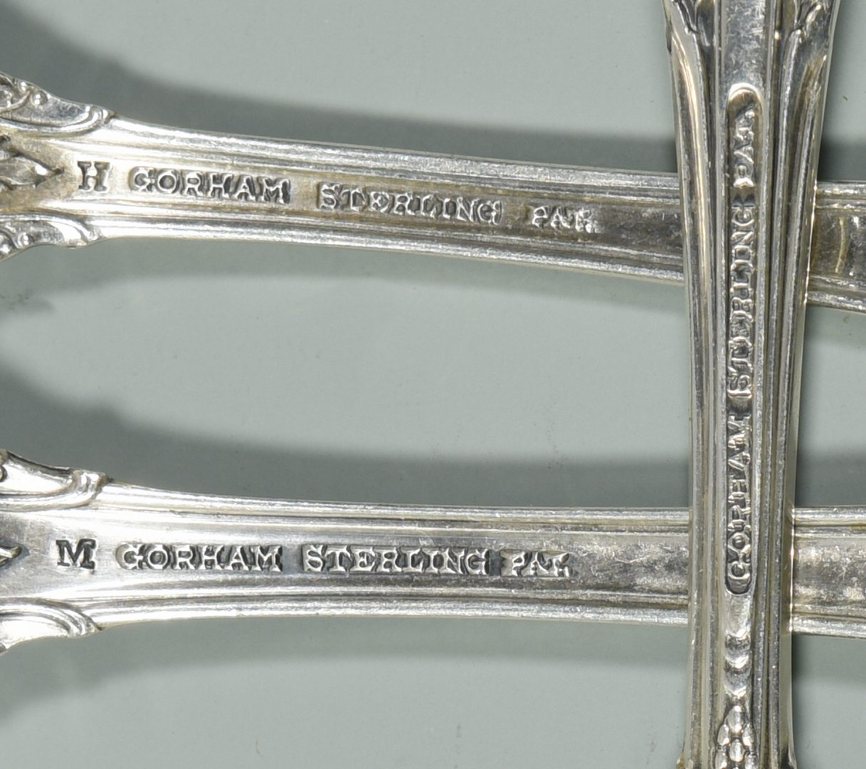Lot 452: Gorham King Edward Sterling Flatware, 57 pcs.