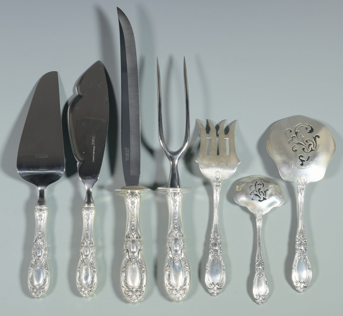 Lot 457: Towle King Richard Sterling Flatware, 60 pcs