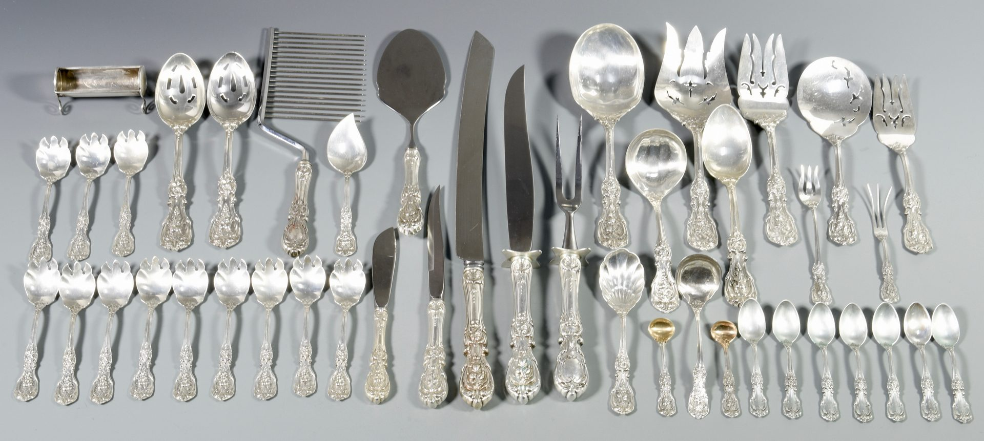 Lot 458: Francis I Sterling Flatware incl. serving pieces