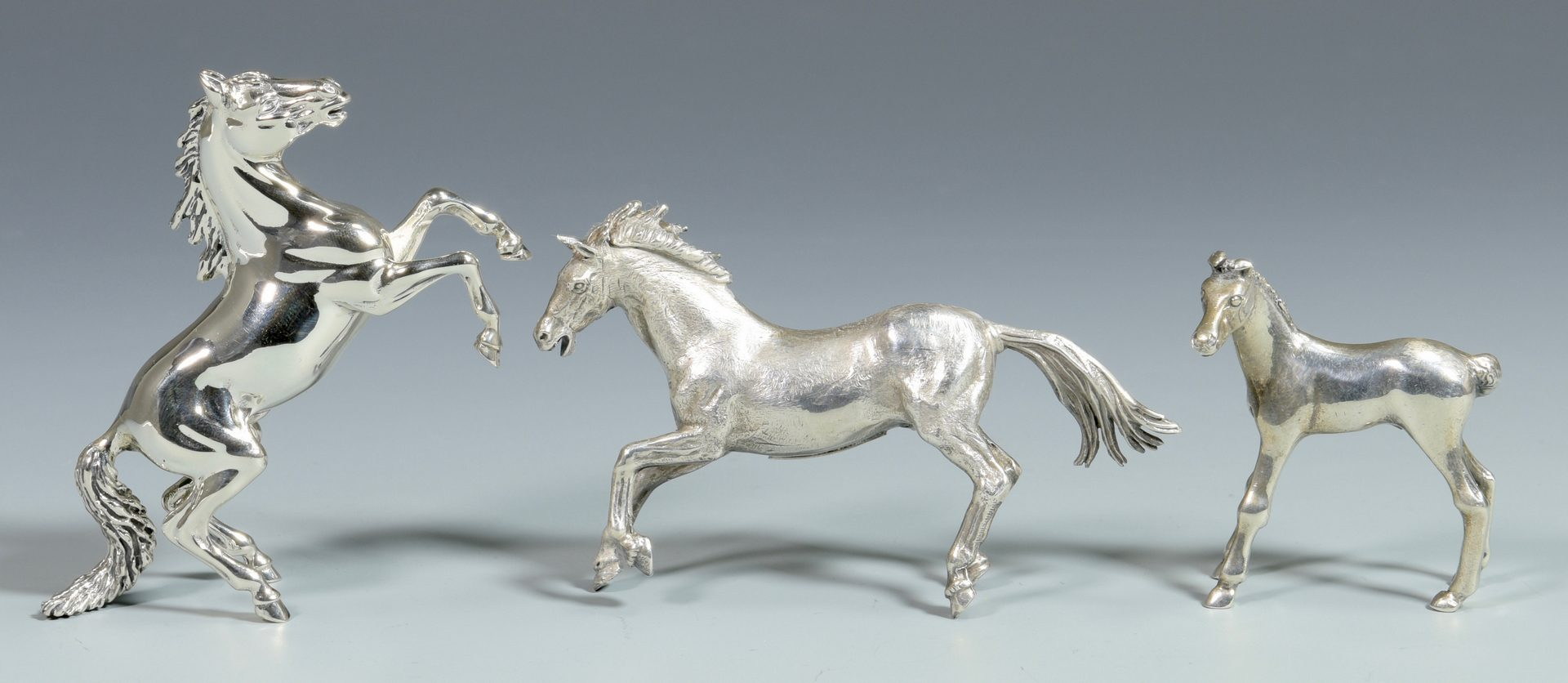 Lot 460: 6 Sterling Silver Equestrian Items